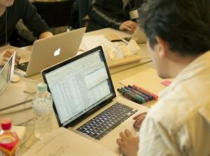 T-Rexaで収集したデータを眺める参加者