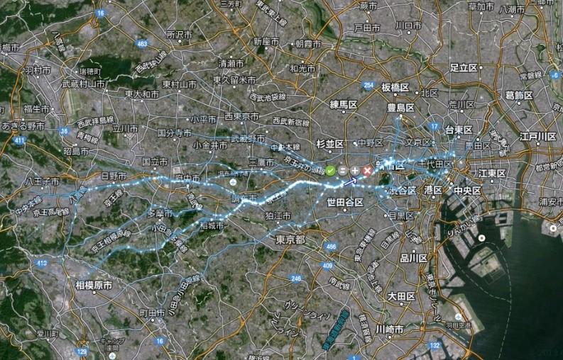 擬似人流データ首都圏版_ビジュアライズ例