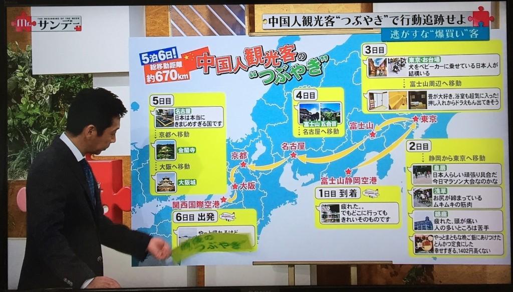 一人の投稿者に注目し、日本各地での大まかな旅行行程や投稿内容を見ることもできます